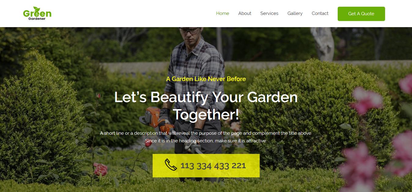 Beispielseite Gartenbau Cover